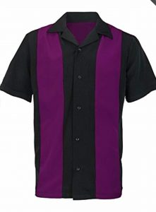 ;black with Purple stripes shirt