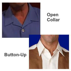 Collar styles for Bowling shirts