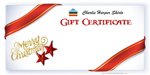 gift certificate for shirts