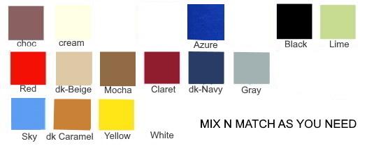 Premium fabric colors